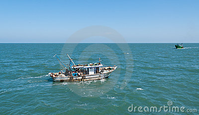 Egyptian fishing boats Editorial Image