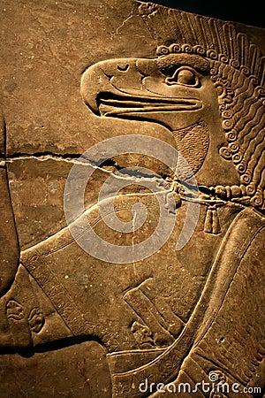 Egyptian Flacon Carving
