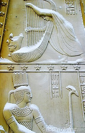 The Egyptian Gates under snow