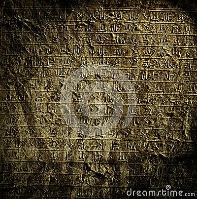 Egyptian hieroglyphs.