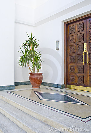 Egyptian hotel entrance