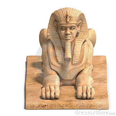 Egyptian human statue