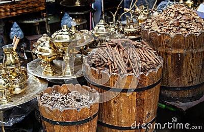 Egyptian market stall