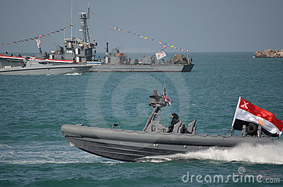 The Egyptian navy celebrating the revelotion Editorial Stock Photo