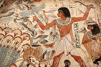 Egyptian painted art