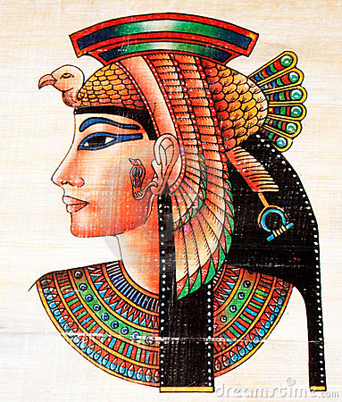 Free Egyptian Papyrus Painting Royalty Free Stock Image - 7801326
