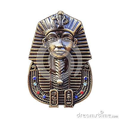 Free Egyptian Pharaohs Mask Isolated On White, Royalty Free Stock Images - 48578979