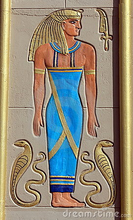 Egyptian Pharoah Wall Art Royalty Free Stock Photos - Image: 12930228