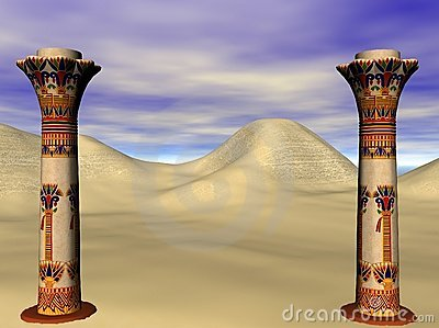 Egyptian pillars