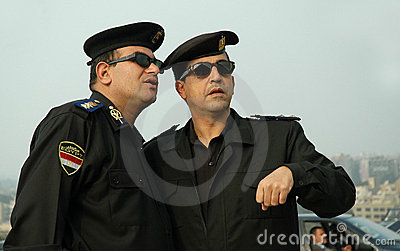 Egyptian Police Officers Editorial Image