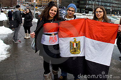 Egyptian Protest at United Nations in NYC Editorial Image