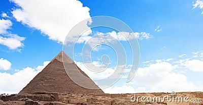 Egyptian Pyramid And Sky