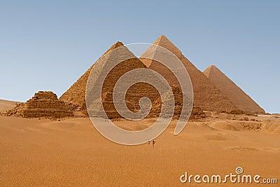 Egyptian pyramids in Giza