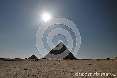 Egyptian pyramids scenic