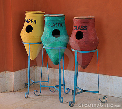 Egyptian recycling containers