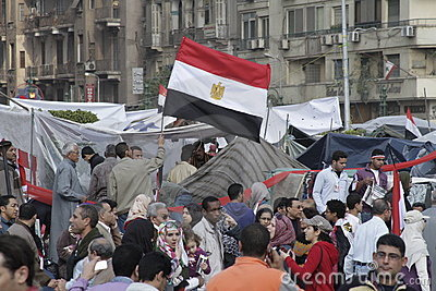 Egyptian Revolution - Celebrations Editorial Image