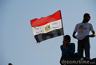 Egyptian Revolution - January 25 Editorial Image