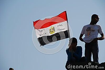 Egyptian Revolution - January 25 Editorial Image