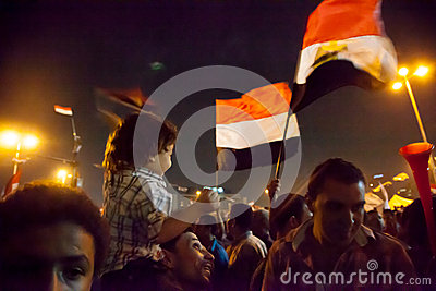 Egyptian revolution Editorial Image