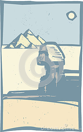 Egyptian Sphinx Close