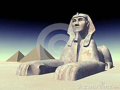 Egyptian Sphinx and Pyramids