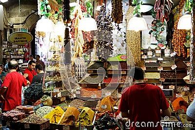 Egyptian Spice Bazaar in Istanbul, Turkey Editorial Photo