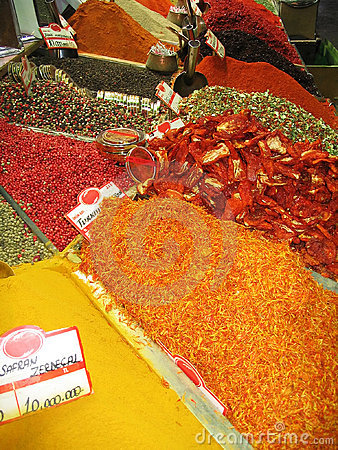 Free Egyptian Spice Bazaar, Istanbul, Turkey Stock Photography - 745832