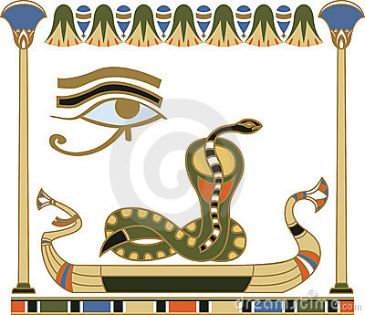Egyptian sun boat composition