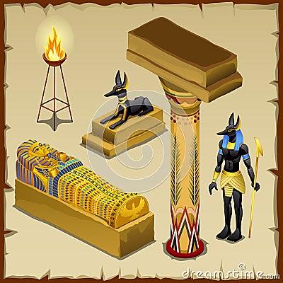 Free Egyptian Symbols Of Ancient Civilization, Big Set Stock Images - 66665974
