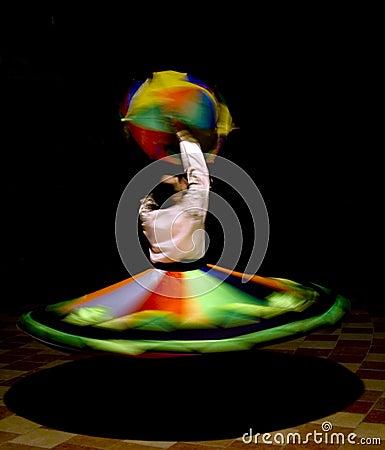 Free Egyptian Tanoura Dancer Stock Photo - 3474760