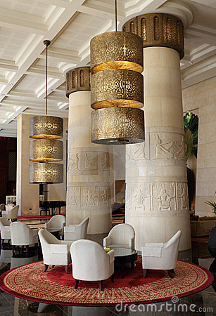 Egyptian themed hotel in Dubai Editorial Photo
