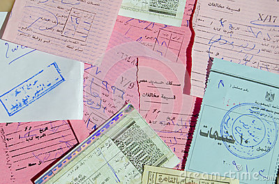 Egyptian Train Tickets Editorial Photography