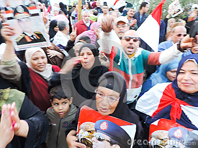 Egyptian women Sharing revolution Editorial Image
