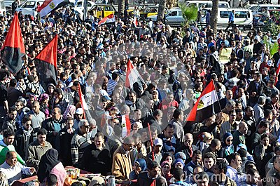 Egyptians demonstrating against president Morsi Editorial Photo