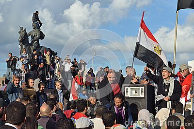 Egyptians demonstrating against president Morsi Editorial Stock Photo