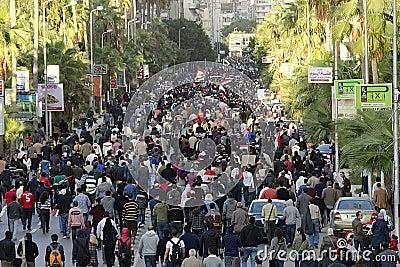 Egyptians demonstrating against president Morsi Editorial Photography