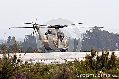 EH-101 Merlin Portuguese preparing for take off.