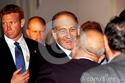 Ehud Olmert - 12th Prime Minister of Israel Editorial Photography