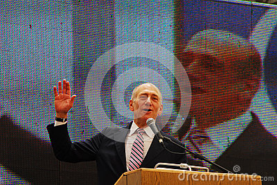 Ehud Olmert - 12th Prime Minister of Israel Editorial Stock Image