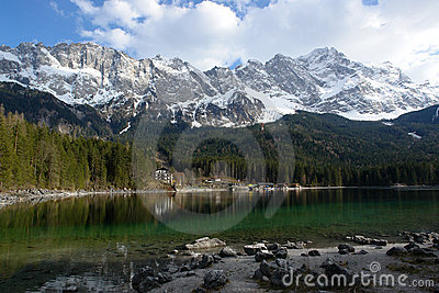Eibsee and Zugspitze