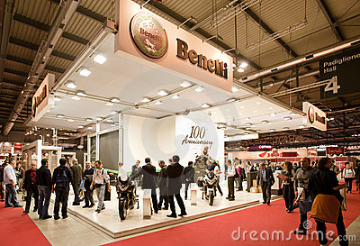 EICMA 2010 - Benelli Stand Editorial Stock Photo