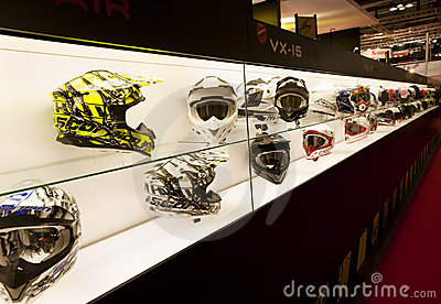 EICMA 2010 - Scorpion Helmets Editorial Stock Photo
