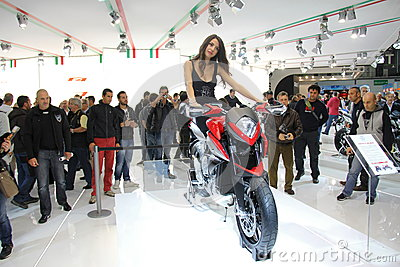 EICMA 2012 70th motorcycle Milan Editorial Photo