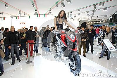 EICMA 2012 70th motorcycle Milan Editorial Photo