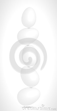 Eieren die in evenwicht in evenwicht brengen