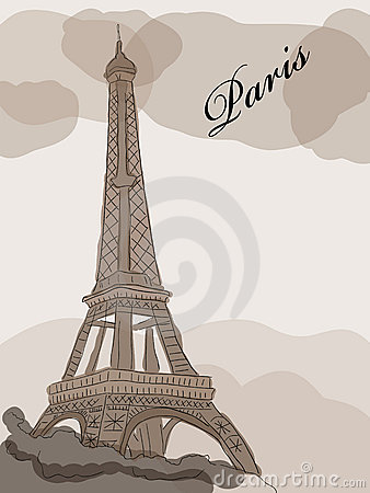 how to draw a simple picture of the eiffel tower