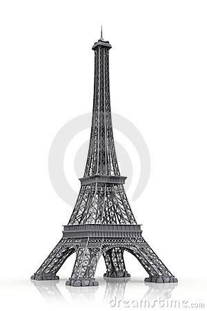 Eiffel tower in 3D icon