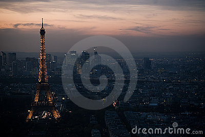 Eiffel tower aerial Editorial Stock Image