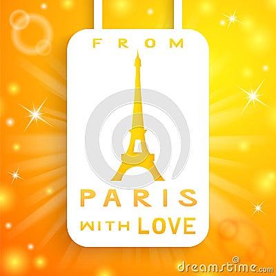 Eiffel tower applique background. Vector