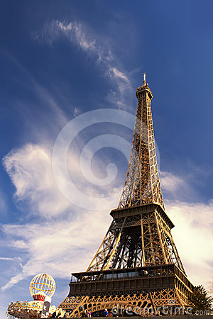 The Eiffel Tower on a beautiful day